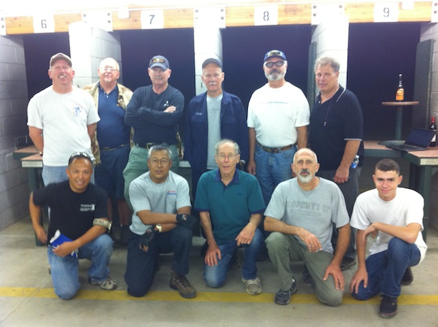 A group of 11 service rifle competitors