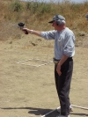 Tom Sparacino shoots with his weak hand.